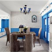 地中海原木餐厅桌椅装饰