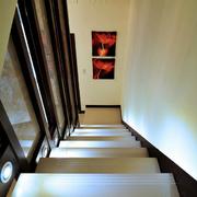 后现代风格简约深色系楼梯装饰