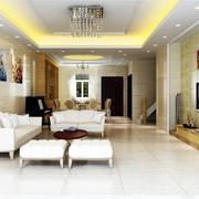 靓丽欧式大户型大厅设计
