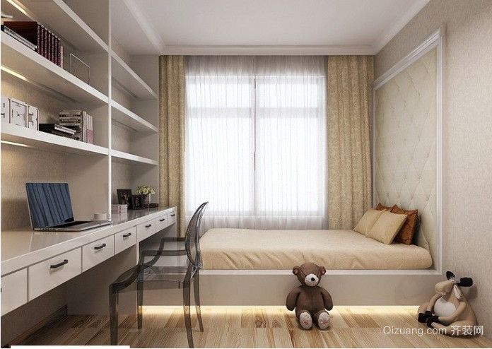 欧式90平方卧室榻榻米装修效果图