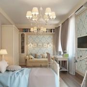 欧式简约风格公寓卧室效果图