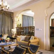 地中海风格简约客厅沙发装饰