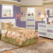 浅紫色简约风格儿童房效果图