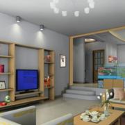 日式简约风格客厅玄关装饰