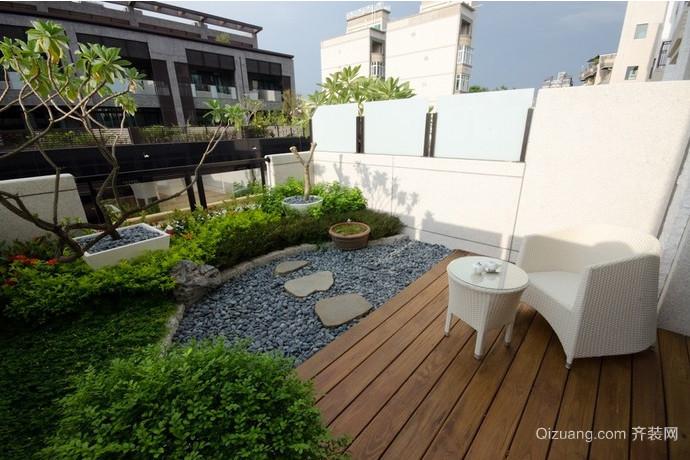 2015别墅露台花园装修效果图