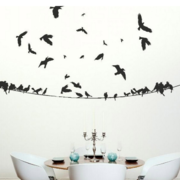 后现代风格简约客厅墙贴效果图