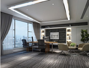 欧式大型公司办公室装修效果图