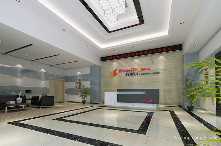 高端企业大厅文化墙装修效果图