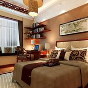 新中式卧室置物架装饰