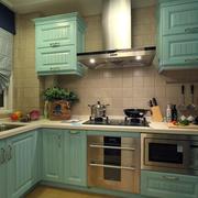 地中海风格清新简约风格厨房推拉门装饰