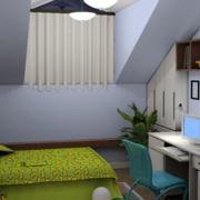 斜顶阁楼简约风格卧室布置