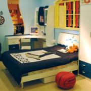 地中海风格儿童房书房装饰