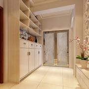 现代简约风格小型复式楼玄关隔断装饰