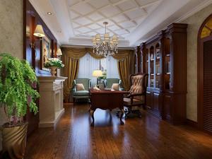 欧式别墅整体书柜装饰