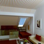 现代简约风格阁楼沙发背景墙