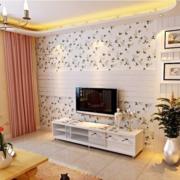 复式楼简易电视背景墙