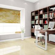 中式简约风格书房整体书柜装饰