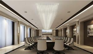 后现代风格会议室背景墙装修