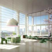 韩式简约清新风格大窗户装饰