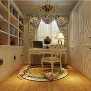 欧式小型书房整体书柜装饰