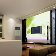 韩式清新客厅地板装饰