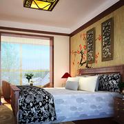 中式简约风格卧室墙饰装饰