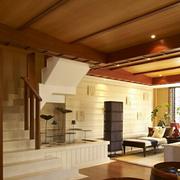 中式深色系楼梯装饰