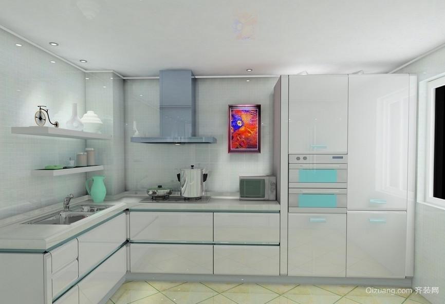 90平米现代欧式厨房设计装修效果图