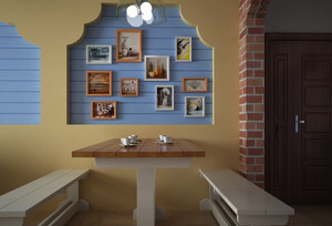 地中海风格餐馆装修效果图