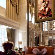欧式风格别墅客厅墙衣装饰