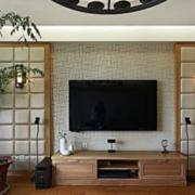 日式简约风格电视背景墙