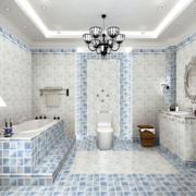 三室两厅简约风格地砖风格卫生间装饰