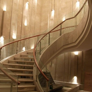 大型别墅旋转式楼梯装饰