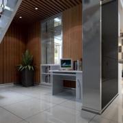 loft风格公寓钢化楼梯装饰