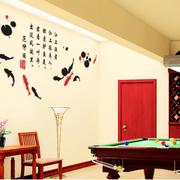 中式风格简约客厅墙贴装饰