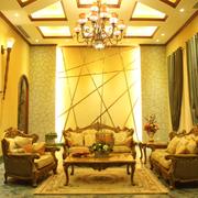 美式奢华风格办公背景墙装饰