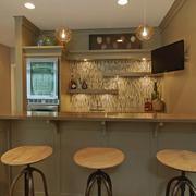 美式简约风格公寓长形吧台装饰