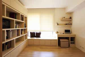 日式简约风格榻榻米书房书柜装饰