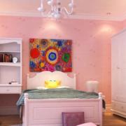 欧式简约粉色系卧室设计
