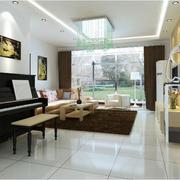 后现代风格公寓客厅吊顶装饰