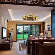 中式简约风格客厅吧台装饰