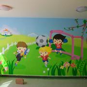 自然幼儿园墙面壁画设计