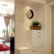 现代简约风格玄关简约白色鞋柜装饰装饰
