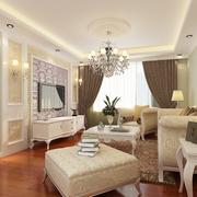 欧式简约风格客厅吊顶设计