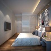后现代风格简约房间床头背景墙