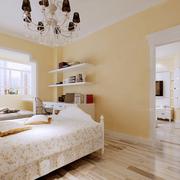 韩式清新卧室纯白墙饰装饰