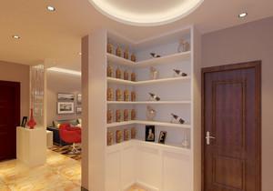 90平米时尚豪华别墅型欧式客厅酒柜装修效果图