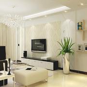 现代清新风格客厅石膏线设计