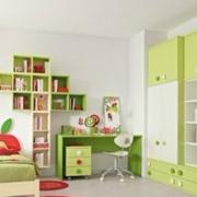 清新果绿色儿童房装饰