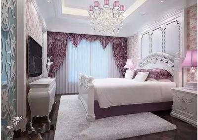 韓式時尚臥室壁紙裝修效果圖
